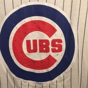 EUC Genuine Merchandise MLB CUBS Sparkle tank